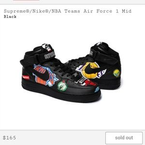 Black Supreme Nba Shoes